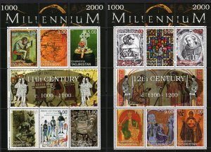 Tajikistan 1999 MILLENNIUM (1000-2000) 9 Sheetlets of 6 + 3 Sheetlets of 8 MNH