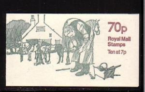 Great Britain Sc BK326 1978 Horse Shoeing 70 p booklet NH