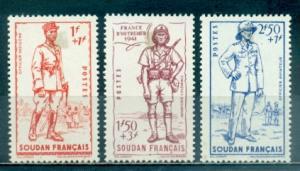 French Sudan #B11-B13  Mint  Scott $4.05  B11 Disturbed Gum