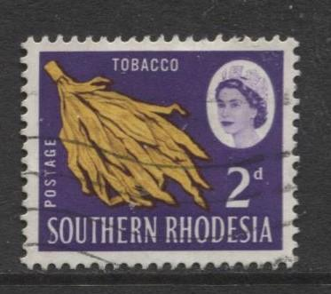 Southern Rhodesia- Scott 97 - QEII Definitives -1964 - Used- Single 2d Stamp