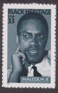 3273 Malcolm X F-VF MNH single