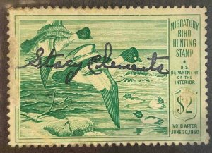 US Stamps #RW16 Used Federal Ducks #RW16A155
