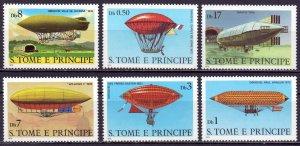 Sao Tome and Principe. 1979. 626-31. Airships. MNH.