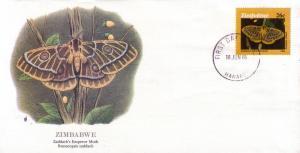 Zimbabwe FDC SC# 531 Zaddach's Emperor Moth L404