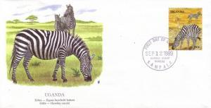 Uganda FDC SC# 690j Zebra L378
