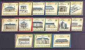 Norfolk Island 1973 Historic Buildings definitive set com...