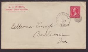 A O Myhre,General Merchandise,Estherville,IA 1897 Cover