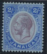 Jamaica SG 66 SC# 69  MVLH purplke & bright blue / blue   see details