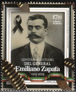 MEXICO DEATH CENTENNIAL OF EMILIANO ZAPATA, REVOLUTIONARY LEADER. MNH VF.