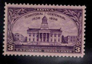 USA Scott 838 MNH** Iowa Terratory stamp 1938