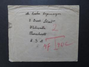 Persia Airmail Cover to USA Light Creasing / US SHIPPING ONLY - Z8513