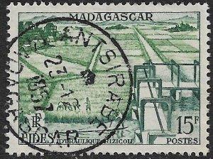 MADAGASCAR 1956 15fr Irrigation Projectl FIDES Issue  Sc 295 VFU