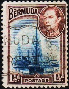 Bermuda. 1938  1 1/2d  S.G.111b  Fine Used