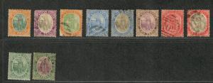 St. Kitts & Nevis Sc#11-20 M+U/H/F-VF, Partial Set, Cv. $69.40