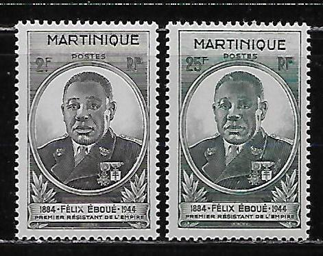 Martinique 196-97 Eboune set MNH