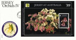 JERSEY ORCHIDS STAMP COVERS  REF 1341
