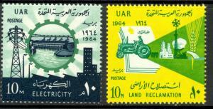 UAR EGYPT 1964 ASWAN DAM LAND RECLAMATION Set Sc 627-628 MNH