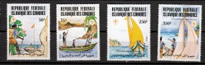 J26951 1982 comoro islands set mh #541-4 sports