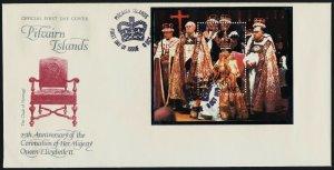 Pitcairn Islands 177 on FDC - Queen Elizabeth 25th Anniv of Coronation