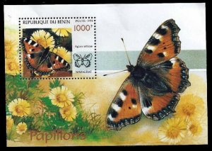 1998 Benin 1076/B44 Butterflies