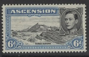 ASCENSION SG43b 1944 6d BLACK & BLUE p13 MTD MINT