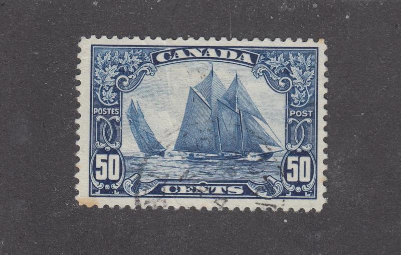 CANADA # 158 VF-EXTREMELY LIGHT USED 50cts BLUENOSE BLIND CANCEL