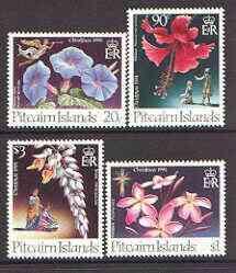 Pitcairn Islands 1994 Christmas Flowers set of 4 unmounte...