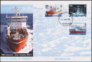 British Antarctic Territory Scott 350-352 Unaddressed.