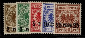 GERMAN EAST AFRICA , 1893 PESA OPTD set, M MINT.