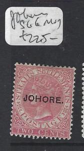 MALAYA  JOHORE  (P0609B)  QV 2C  SG 6   MOG