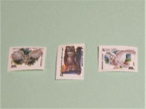 Russia - 5871-73, MNH Set. Owls. SCV - $2.50
