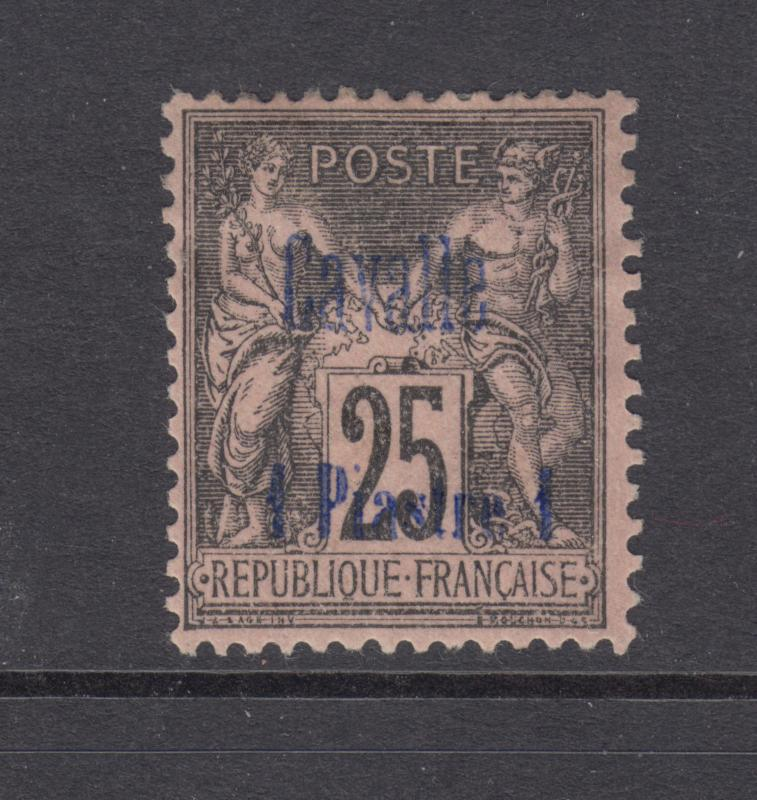 France, Turkey, Cavelle Sc 5 MLH. 1893 1p surcharge on 25c Peace & Commerce