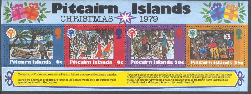 PITCAIRN 191a MNH CHRISTMAS 1979 YEAR OF THE CHILD SOUVENIR SHEET