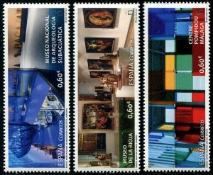 HERRICKSTAMP NEW ISSUES SPAIN Sc.# 4190-92 Museums 2017