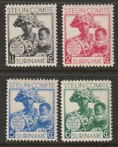 Suriname 1931 Sc B12-5 set MH*/MNG(*)