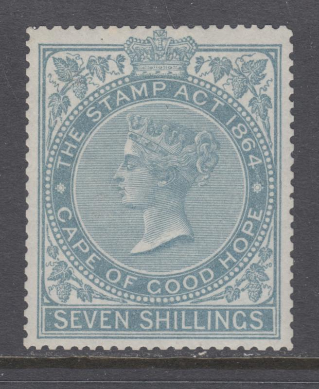 Cape of Good Hope Bft 97 MLH. 1876 7sh gray Stamp Duty fiscal, fresh