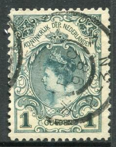 NETHERLANDS # 83a F-VF Used Issue Type I - QUEEN WILHELMINA - S3026
