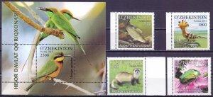 Uzbekistan. 2016. 1136-9, bl77. Fauna of Uzbekistan. MLH.