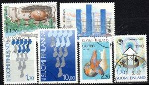 Finland #756-7, 759-61, 765   F-VF Used  CV $4.75 (X988)