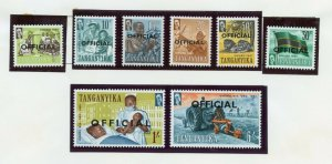 TANGANYIKA  SELECTION OF MINT NEVER HINGED STAMPS DELIVERD OFF THE ALBUM PAGES