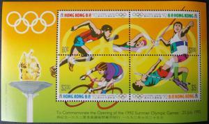 1992 Barcelona Olympic Games MNH Miniature Sheet from Hong Kong