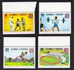 Samoa Commonwealth Games 4v with top margins SG#422-425 SC#395-398