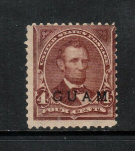 Guam #4 Mint Fine Original Gum Hinged