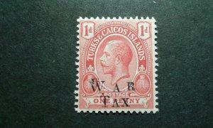 Turks & Cacos #MR10a MNH double overprint e206 10130