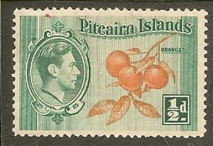 Pitcairn Islands    Scott  1     Oranges    Unused