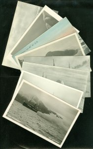 EDW1949SELL : NORWAY Unusual collection of 8 Early Unused Real photos Post cards