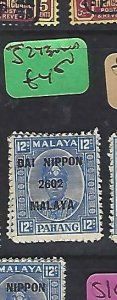 MALAYA JAPANESE OCCUPATION PAHANG (P2510BB)  12C DN SG J273   MNH