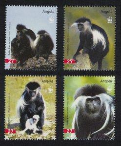 Angola WWF Black-and-white Colobus 4v SG#1717-1720 MI#1745-1748 SC#1279 a-d