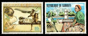 Djibouti Scott 496-497 Mint never hinged.