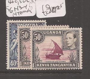 Kenya, Uganda and Tanganyika 40c, 50c SG 143-4, 144e MOG (3cfl)
